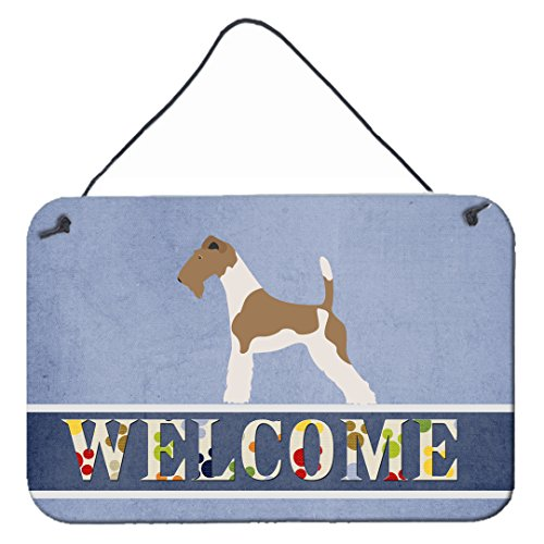 Caroline's Treasures Wire Fox Terrier Welcome Metal Print, 8