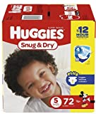 Huggies Snug & Dry Four Layer Diapers Size 5, 72 ea/ 2 Pack