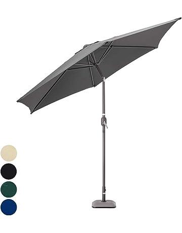 5081e20900f Christow Aluminium Parasol Garden Patio Umbrella Lightweight Crank Tilt UV  Sunshade 2.7m