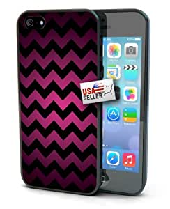 Chevron Pink Black Art Black Plastic Cover Case for iphone 6 plus 5.5