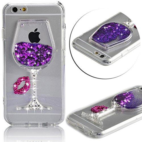 Vandot iPhone 5 5s SE | Funda Carcasa con Orejas de Raton | TPU en Transparente + muticolor | 3D Cute Cartoon Diamante Crystal Mouse Ears Case Cover Protector Smartphone Móvil Accesorio - Negro C-TPU04