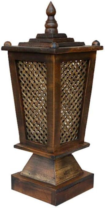 Lampe de table carrée lanterne en bambou fait à la main