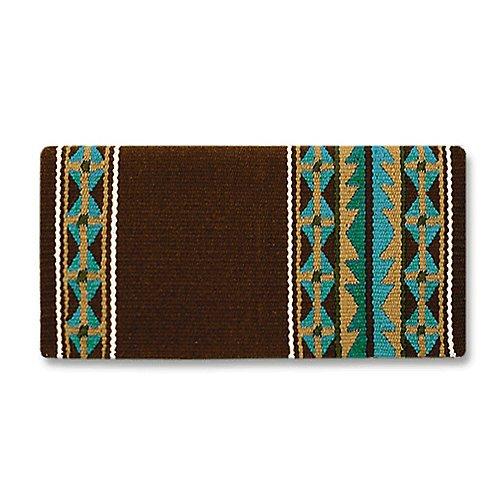 Mayatex Mojave Saddle Blanket, Chestnut/Tan/Turquoise/Teal/Ocean Blue/Cream