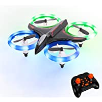 Mini Drone, RC Quadcopter Headless Mode 2.4GHz 4 Chanel 6 Axis Gyro Steady Hold Height Helicopter with Colourful Light, Easy Fly for Training FitMaker