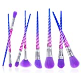 U-beauty® Unicorn Makeup Brushes 8pcs Rainbow Professional Make Up Brushes Set Blending Powder FoundatioEye Contour Brush