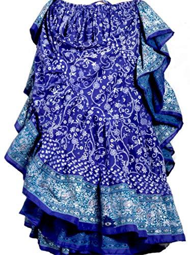 (25 Yard Yards Tribal Gypsy Belly Dancing Dance Skirt ATS (Blue Turq))