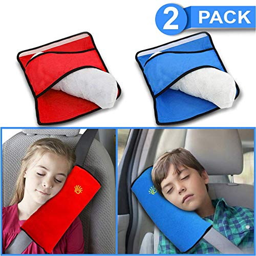 (Seatbelt pillow | Car pillow for kids | kids seatbelt pillow Comfort And Soft car seat covers for kids Breathable Fabric Safety adjustable | seat belt covers for kids 90%)
