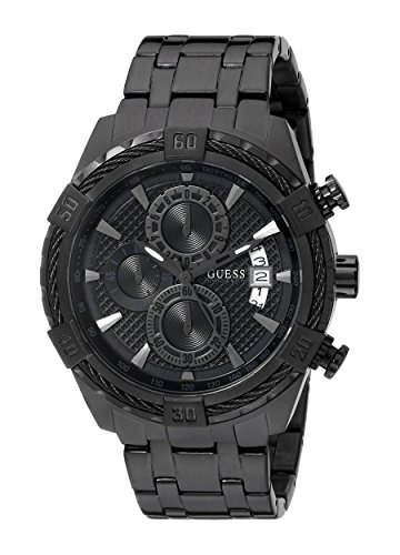 GUESS-Mens-U0522G2-Stainless-Steel-Black-Ionic-Plated-Chronograph-Watch-with-Date-Function