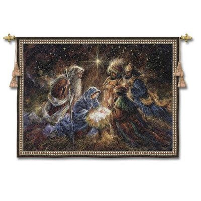 Fine Art Tapestries ''We Three Kings'' Wall Tapestry by Fine Art Tapestries