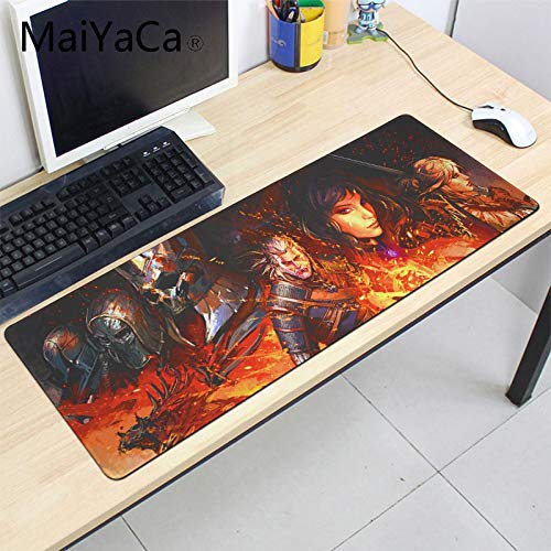The Witcher 3 - Wild Hunt Extend Mousepad 35.4 x 11.8 Inch - Big Mousepad, Keyboard Pad Overlock Edge Gaming Mousepad for The Witcher 3 Player (Pic 1)