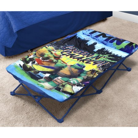 [Nickelodeon Teenage Mutant Ninja Turtles Polyester Folding Structure Portable Travel Bed with Removable Slumber Sack Sized Just Right for Little Ones Can Be Used Indoors or] (Homemade Costumes Teenage Girls)