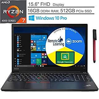"2020 Lenovo ThinkPad E15 (Newer Version of E590) 15.6"" FHD Business Laptop Computer, AMD Octa-Core Ryzen 7-4700U (Beats i7-1065G7), 16GB DDR4, 512GB PCIe SSD, Windows 10 Pro, BROAGE 64GB Flash Drive"