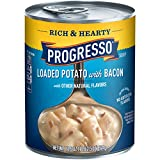 Progresso Rich & Hearty Soup, Loaded Potato with Bacon, 18.5-Ounce (Pack of 12)