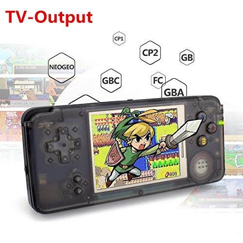 Anbernic Handheld Game Console ,Retro TV Game Console 3 inch HD Screen 800 Classic Games of GBA / GBC / GB / SEGA / NES / SFC / NEOGEO , Game Console for Kids (Black)