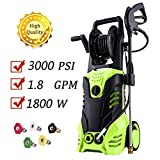 14.5-Amp Electric Pressure Washer 3000 PSI, 1800W Power Washer Cleaner Machine with 5
