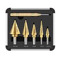 Tacklife PDH06A Classic Titanium Step Drill Bit Set