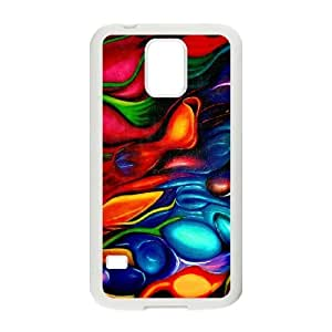 abstract Painting_004 TPU Cover Unique Phone Case White For samsung galaxy s5