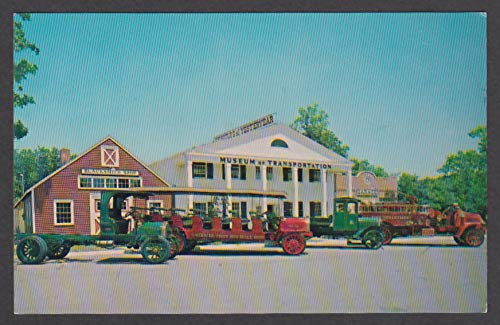 Mack Bros Fire Apparatus Museum of Transportation Mystic CT postcard 1960s