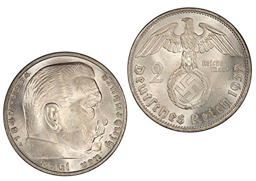 Germany Silver Coin - Silver Coin 2 Reichsmark 1937 A - Authentic / Antique / Original Germany Third Reich
