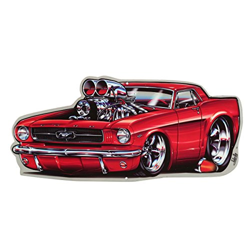 Open Road Brands Ford Mustang Embossed Tin Sign