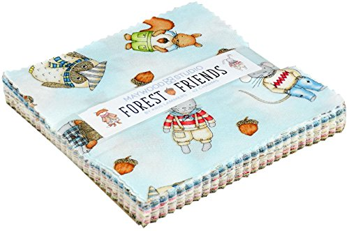 Kris Lammers Forest Friends Charm Pack 42 5-inch Squares Maywood Studio - Calico Quilt Shop