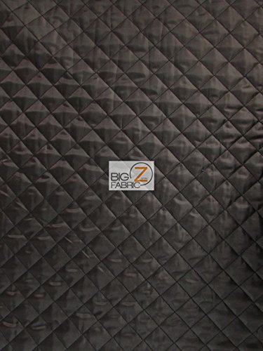QUILTED POLYESTER BATTING FABRIC - Black - 60