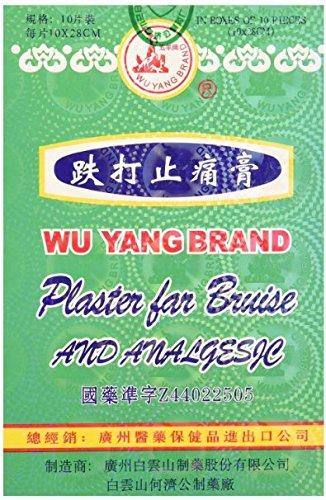 Wu Yang Brand Plaster For Bruise And Analgesic 10Pcs  Hongkong Version   1