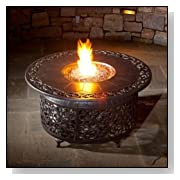 Alfresco Home Bellagio Cast Aluminum Propane Fire Pit Chat Table