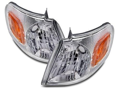 Headlights Depot Replacement for Venture/TransSport/Silhouette/Montana New Corner Lights Set (Oldsmobile New 1997 97 Silhouette)