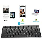 Rii® Bluetooth Wireless Keyboard BT09 for iOS Android Windows, iPhone, iPad , Galaxy Tab, Mac, and any bluetooth enabled device (Black)