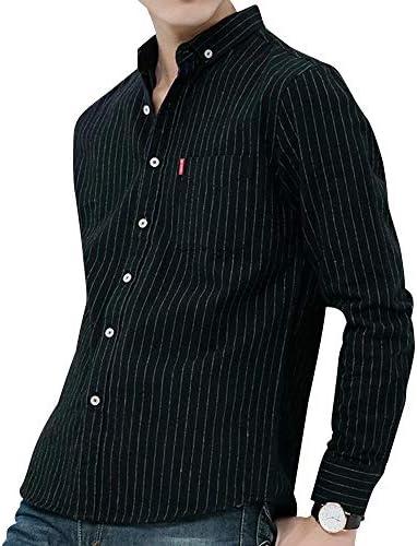 シャツ メンズ 長袖 ボタンダウン カジュアル ストライプ 春 秋 冬 大きいサイズ トップス ワイシャツ コットン 春 夏 秋 冬 ワンポイント ビジネス