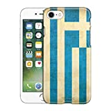 Apple iPhone 7 Case, Snap On Cover by Trek Greek Vintage Flag Slim Case for Phone 7