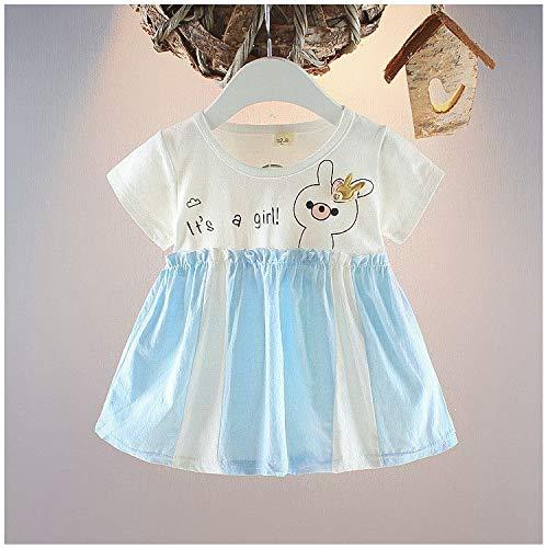 Vestido de bebé de 0 a 2 años, Manga Corta, Estampado de Dibujos ...