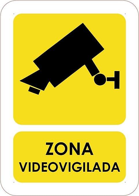 Oedim Señaletica Para Exteriores Zona video vigilada Tamaño A5 (21x14,8cm) | Señaletica