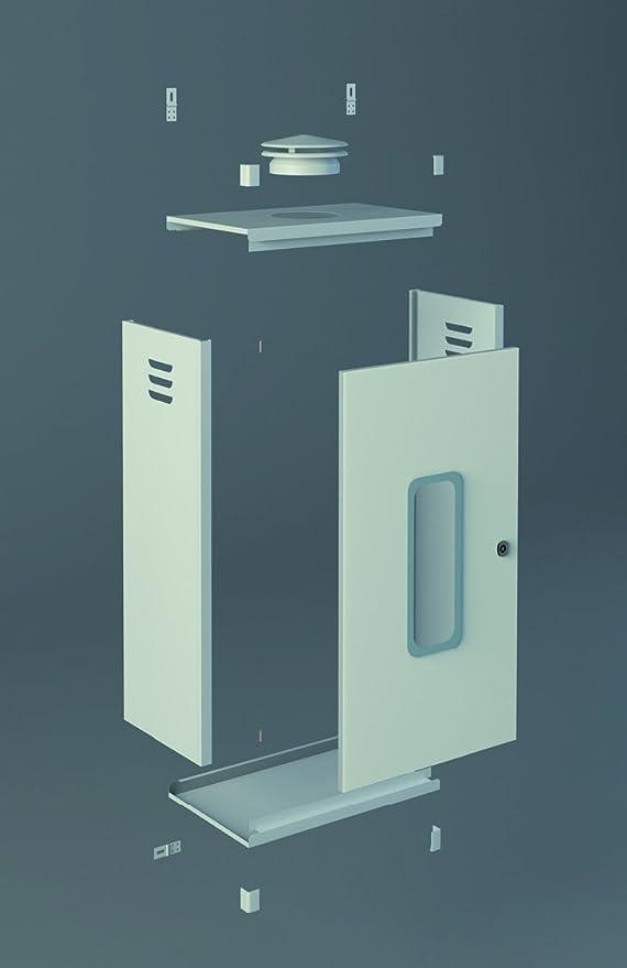 Chimeplast 800480300ARMPEQ - Armario protector para calentador, aluminio blanco 800 x 480 x 300: Amazon.es: Bricolaje y herramientas