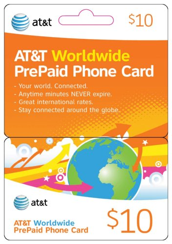 International Phone Cards - AT&T Worldwide Prepaid Phone Card ($50, 3pcs-$10 & 1pc-$20)