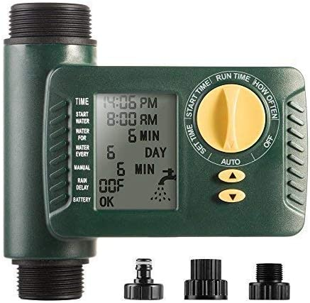 Plants and Patio One Outlet Programmable Hose Faucet Timer Automatic On Off Water Faucet Timer with Rain Delay Manual Control to Perfectly Water Your Garden