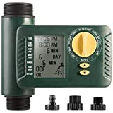 Programmable Hose Faucet Timer for Outdoor 2AA Battery Powered, Automatic ON & Off Digital Water Timer Include Rain Delay & Manual Control Function for Garden Irrigation - Single Outlet & Waterproof