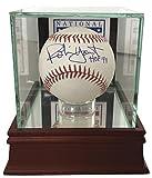 Robin Yount Signed Official MLB Baseball HOF 99 w/ HOF Glass Display Case JSA