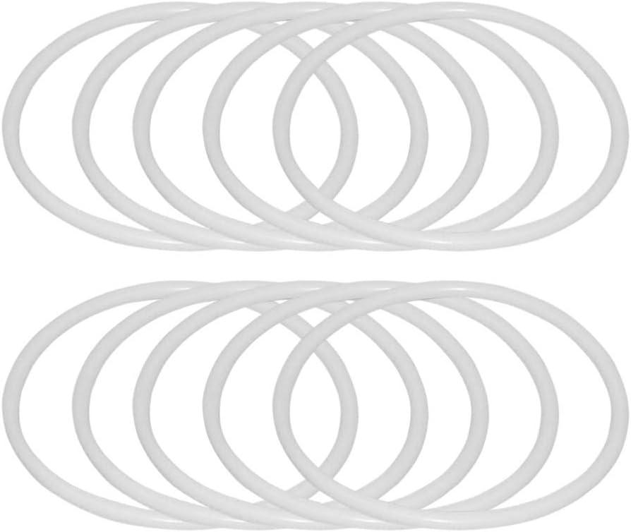 Artibetter atrapasueños aros redondos anillos de plástico para atrapasueños y manualidades 30 piezas (6 cm)