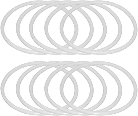 10Pcs Plastic Dream Catcher Dreamcatcher Ring Craft Hoop Round Handmade