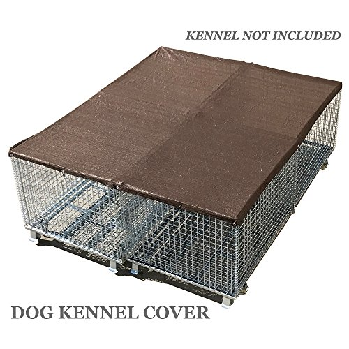 Alion Home UV Stable Dog Run & Pet Kennel Shade Cover, Sunblock Shade Privacy Panel with Grommets and Hems on 4 Sides (kennel not included) (10' x 12', Dark Brown)
