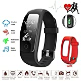 Fitness Tracker Heart Rate Watch Sleep Monitor Ativafit Calorie Counter Waterproof Weather Mode Multi Sports Activity Tracker Smart Watch for iPhone & Android Phone (Black)