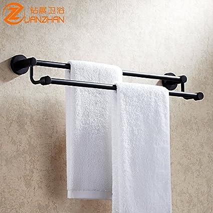 Daadi Toallero Barra Doble habitación baño Toallas toalleros Dobles de Acero Inoxidable de una Sola Palanca