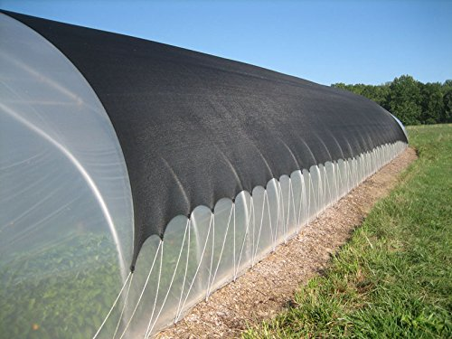 Pond Plants Shade (Shade Cloth 8X20ft Black 40% Sunblock -Cut Edge with Free Clips, Protect your Plant for Greenhouse, patio sun shades and privacy screen fence)