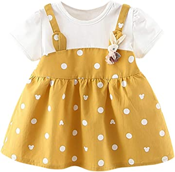 Baby Girls Summer Floral Spotted Dress /& Headband Newborn - 6 Months