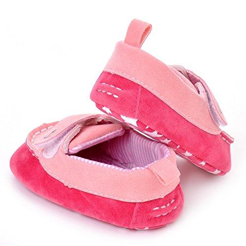 estamico infantil unisex suave suela zapatos de bebé azul azul Talla:3-6 meses rosa (b)