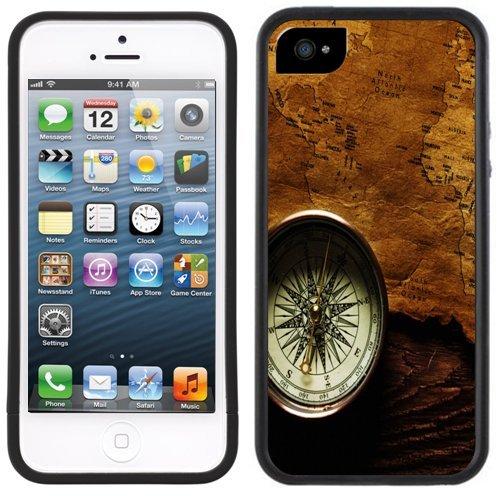 Kompass   Handgefertigt   iPhone 5 5 s   Schwarze Hülle  
