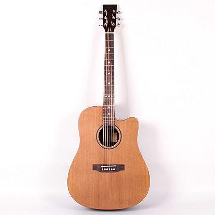 Guitarra acústica para niños de 41 pulgadas, cara de pino rojo ...