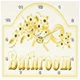 Cheap 3dRose dc_60566_1 Victorian Yellow Gold Bathroom Sign Desk Clock, 6 by 6-Inch